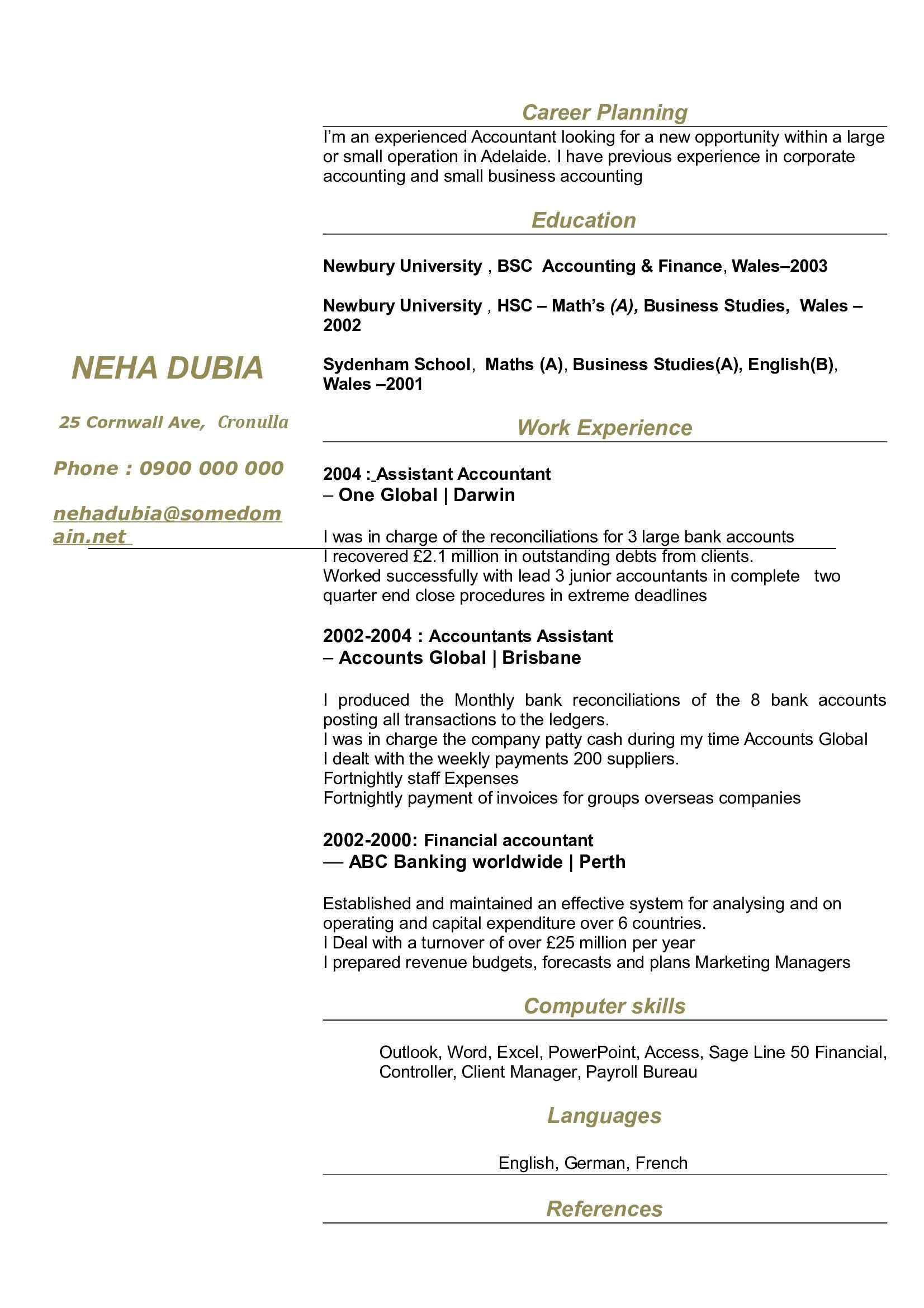 CV Classic N°1 | Curriculum Vitae